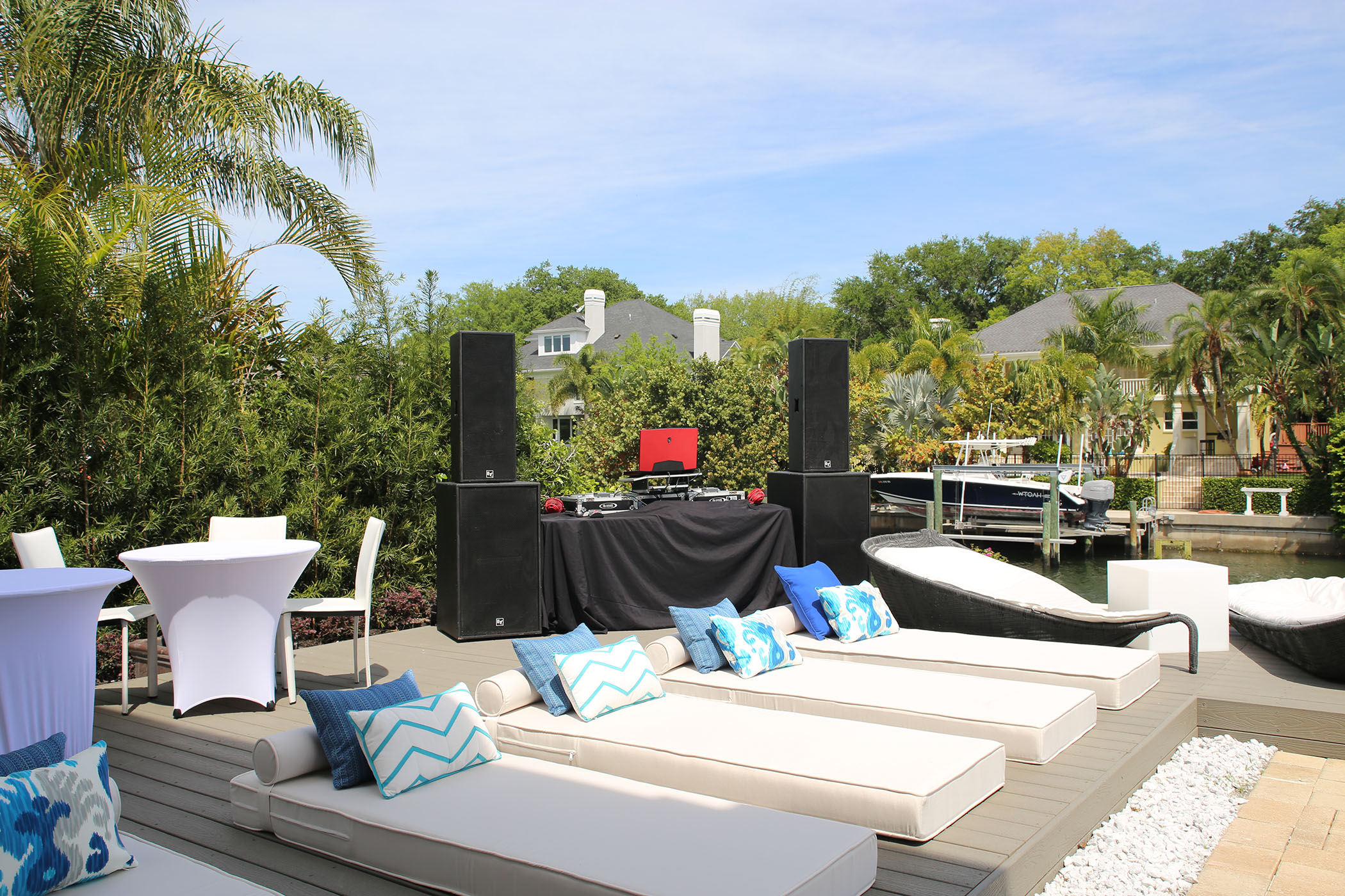 DJ Papi Setup at a Private Pool Party